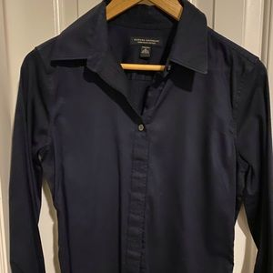 Banana Republic button-down, deep navy